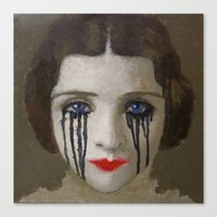 Crying Woman Canvas Print