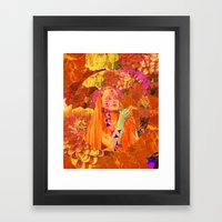 Spaceflowerss Framed Art Print