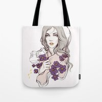 Birth Flower II - Violet Tote Bag