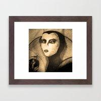 evil queen -snow white Framed Art Print