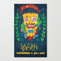 EAT MY SHORTS Canvas Print