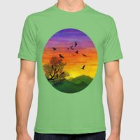 Eagles Mens Fitted Tee Grass SMALL