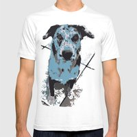 Catahoula Catawhat Mens Fitted Tee White SMALL