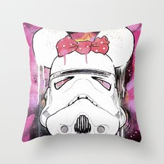 MINI TROOPER — On Pink Throw Pillow