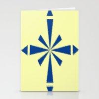 Blue Asterisk Stationery Cards