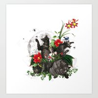 guarded by bears Art Print