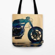 Metalic Blue Tote Bag