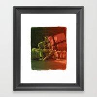 Hotline Baby Framed Art Print