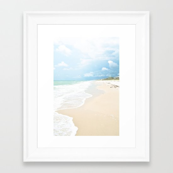 Paradise Shore Framed Art Print