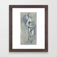 Angel Grey Framed Art Print