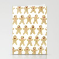 Gingerbread people Stationery Cards