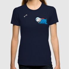 Spacedoggy Womens Fitted Tee Navy SMALL