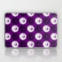 Sunflower black, white and purple Laptop & iPad Skin