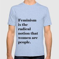Feminism  Mens Fitted Tee Athletic Blue SMALL