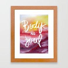 Body & Soul [Collaboration with Jacqueline Maldonado] Framed Art Print