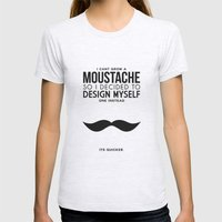 Digital Moustache. Womens Fitted Tee Ash Grey SMALL