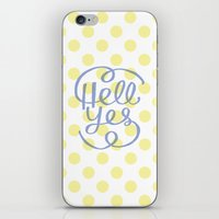 Hell Yes! (Yellow) iPhone & iPod Skin
