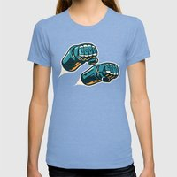 Love/Hate Womens Fitted Tee Tri-Blue SMALL