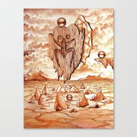 Tribute To The Tainos Canvas Print