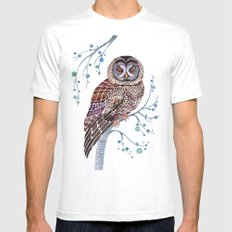 lacy owl White Mens Fitted Tee SMALL