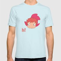Ponyo Mens Fitted Tee Light Blue SMALL