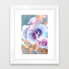 Vintage roses(6). Framed Art Print