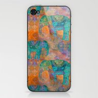 Elephant Pattern iPhone & iPod Skin