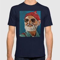 Steve Zissou  Mens Fitted Tee Navy SMALL