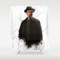 Mr. White Shower Curtain