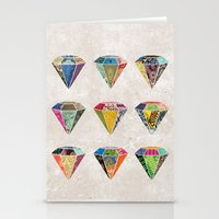 Diamonds Collage Stationery Cards