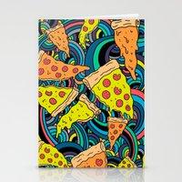 Pizza Meditation Stationery Cards