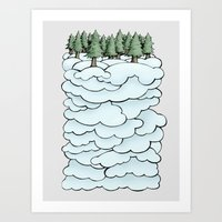 Treeclouds Art Print