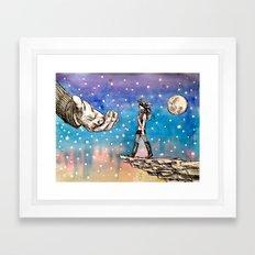 Just A Little Closer... Framed Art Print
