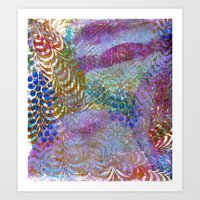 Feathered Ripples Art Print