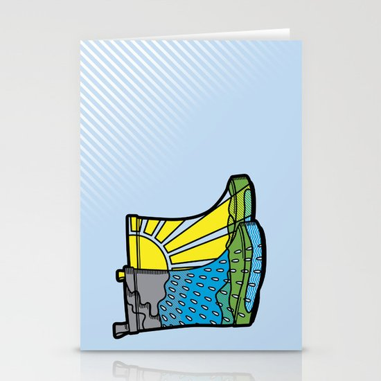 Rainy Day Boots Stationery Card
