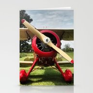Red Plane Stationery Cards