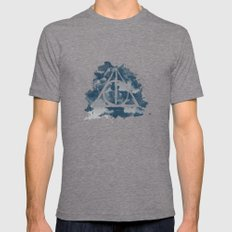 The Deathly Hallows (Ravenclaw) Mens Fitted Tee Tri-Grey SMALL
