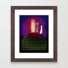 Community Inspector Spacetime  Framed Art Print