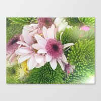 Spring Flower Bouquet Canvas Print