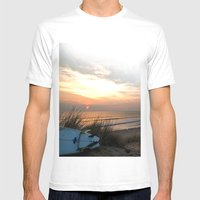 Woolacombe Bay Mens Fitted Tee White SMALL
