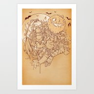 Art Print featuring Early Halloween by Hatrobot
