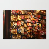 Knock On Wood...With Your Feet Canvas Print