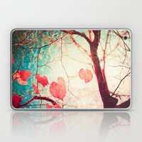 Tree Autumn And Blue Tex… Laptop & iPad Skin