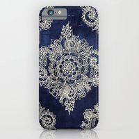 Cream Floral Moroccan Pa… iPhone 6 Slim Case