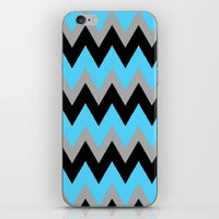 Aqua Black Chevron iPhone & iPod Skin