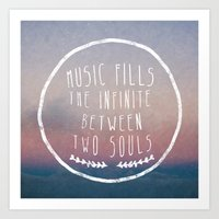 I. Music Fills The Infin… Art Print