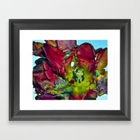 Still Life With Red Tuli… Framed Art Print