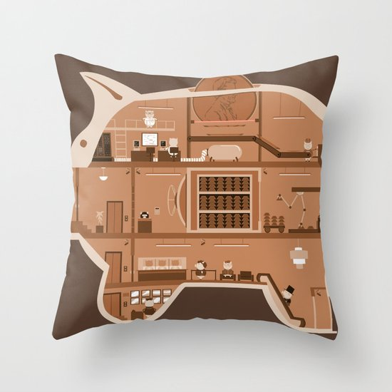 Piggy Bank Throw Pillow
