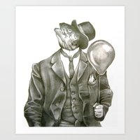 In Which Nothing Says Ha… Art Print