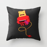 Red Toast Throw Pillow